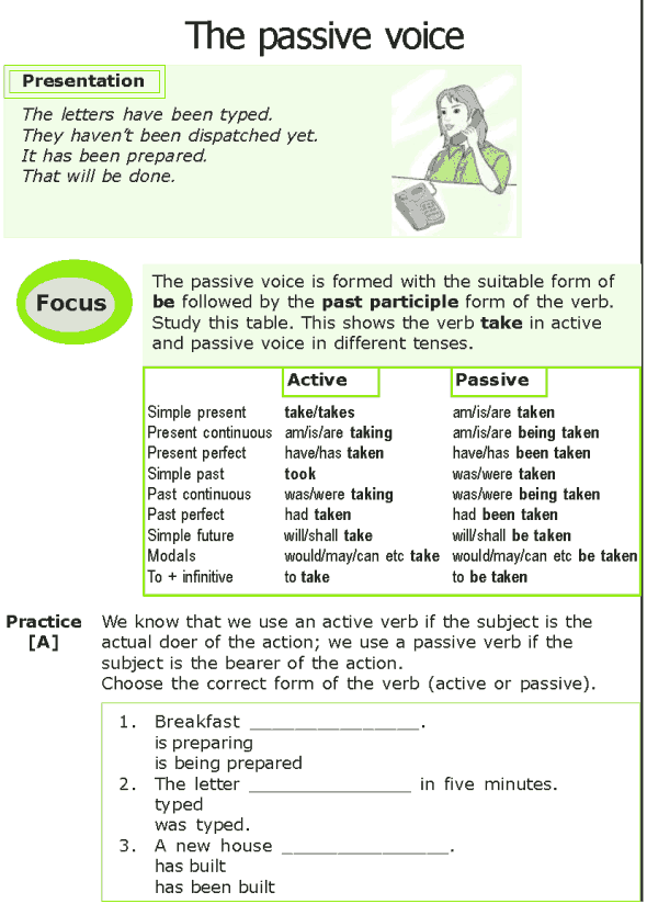 Grade 7 Grammar Lesson 6 The passive voice (0)
