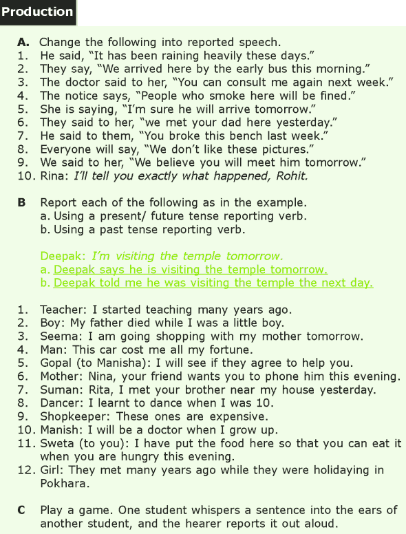 Grade 7 Grammar Lesson 7 Reported speech (5)