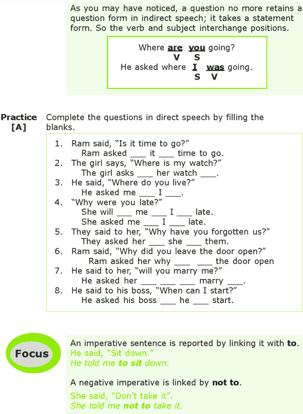 Grade 7 Grammar Lesson 8 Reporting questions and imperatives (1)