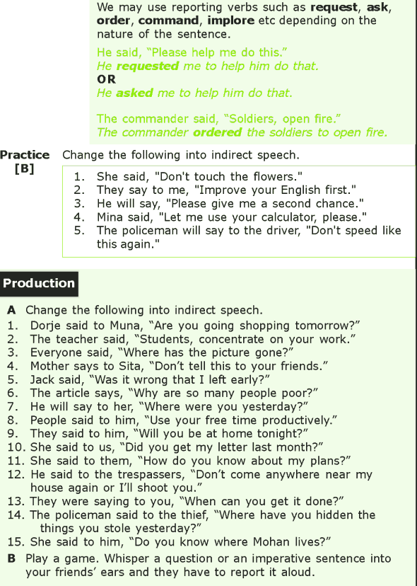 Grade 7 Grammar Lesson 8 Reporting questions and imperatives (2)