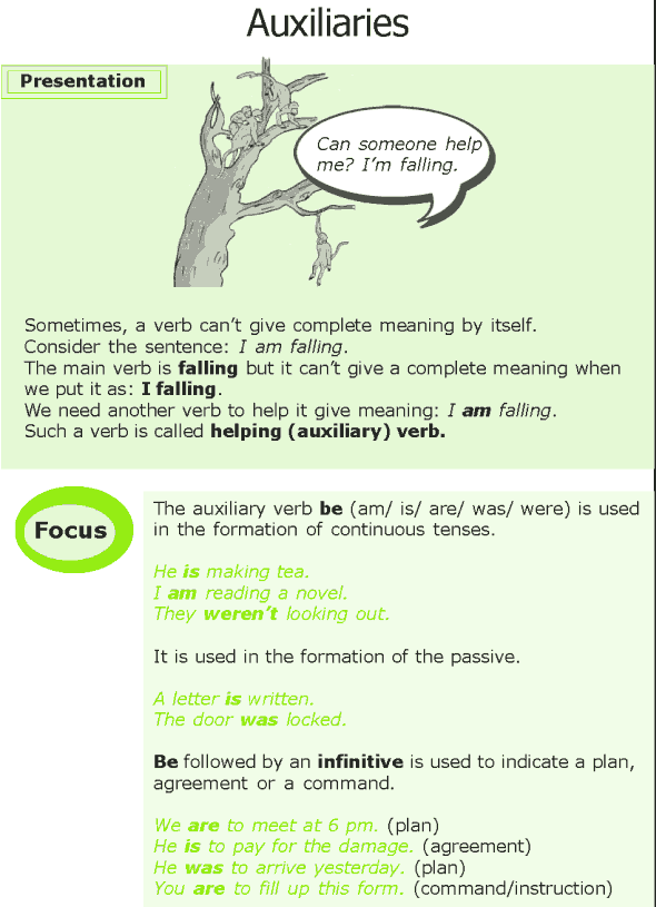 Grade 7 Grammar Lesson 9 Auxiliaries (0)