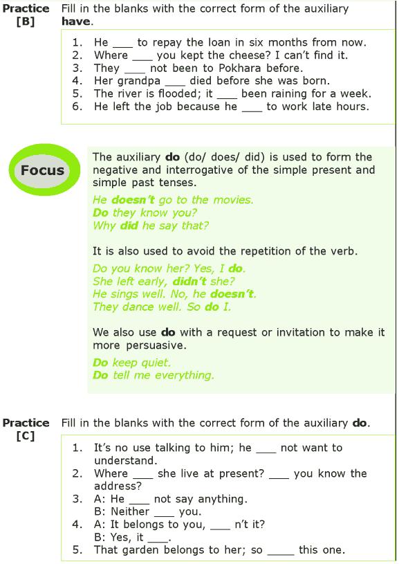 Grade 7 Grammar Lesson 9 Auxiliaries (2)