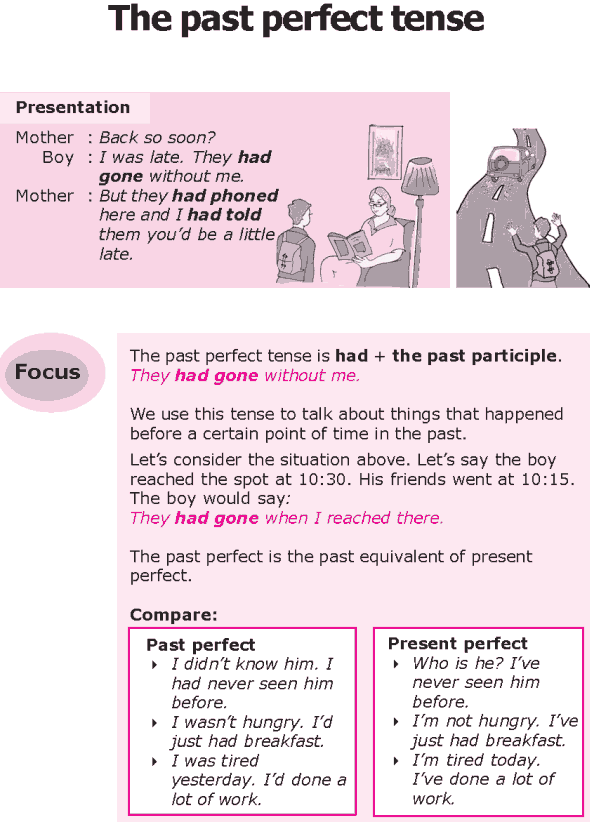 Grade 8 Grammar Lesson 10 The past perfect tense