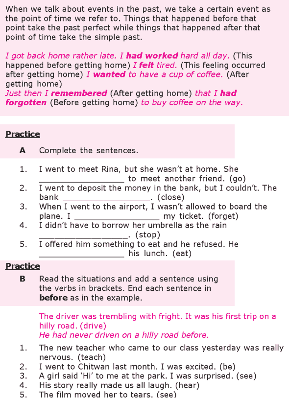 Grade 8 Grammar Lesson 10 The past perfect tense (1)