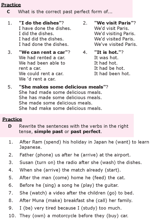 Grade 8 Grammar Lesson 10 The past perfect tense (2)