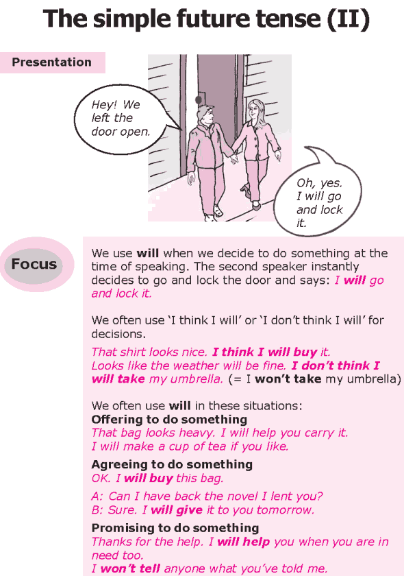 Grade 8 Grammar Lesson 13 The simple future tense (0)