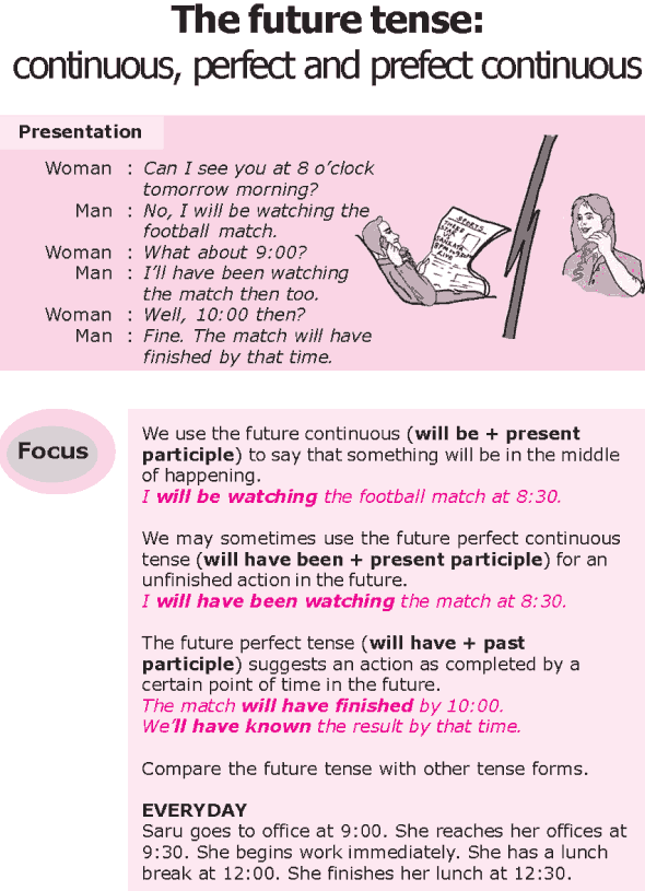 Grade 8 Grammar Lesson 15 The future tense: continuous, perfect and prefect continuous