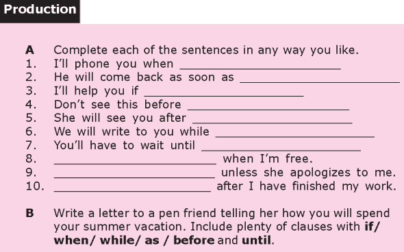 Grade 8 Grammar Lesson 17 Time clauses (2)