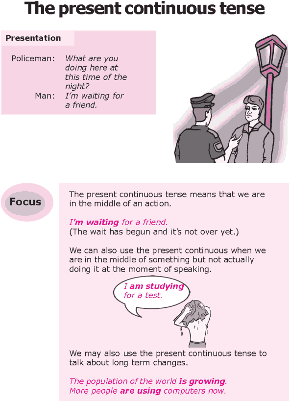 Grade 8 Grammar Lesson 2 The present continuous tense (0)