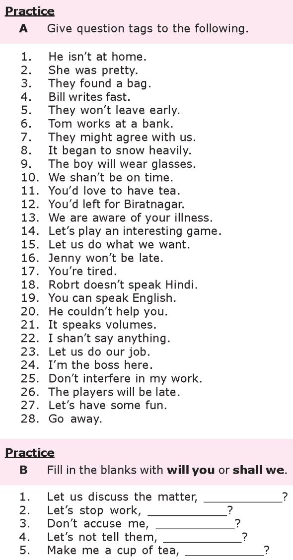 Grade 8 Grammar Lesson 20 Question tags (1)