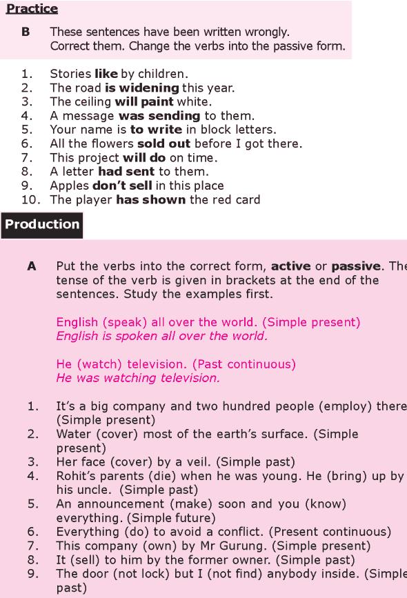 Grade 8 Grammar Lesson 21 Passive verb forms (2)