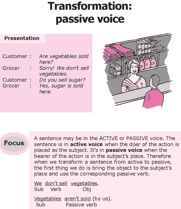Grade 8 Grammar Lesson 22 Transformation: passive voice
