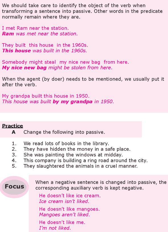 Grade 8 Grammar Lesson 22 Transformation passive voice (2)
