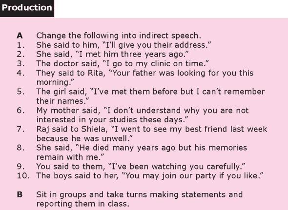 Grade 8 Grammar Lesson 23 Reported speech (4)