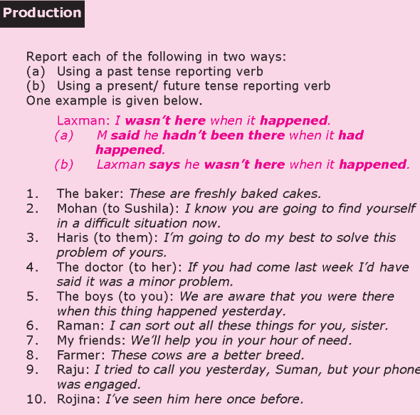Grade 8 Grammar Lesson 24 Reported speech (3)