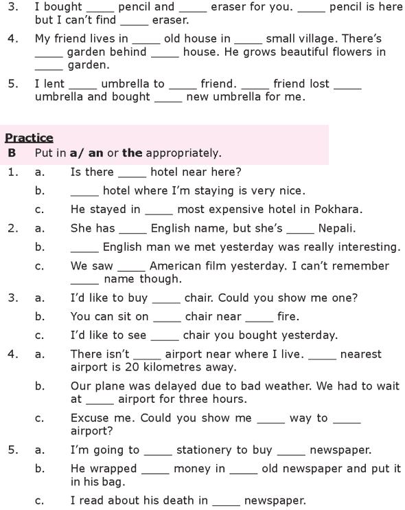 Grade 8 Grammar Lesson 26 Articles (2)