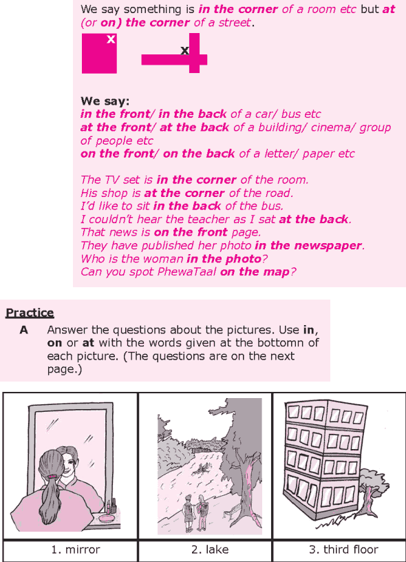 Grade 8 Grammar Lesson 28 At, on and in prepositions of place (3)