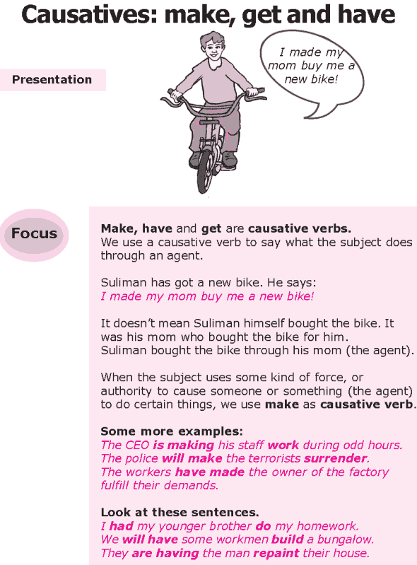 Grade 8 Grammar Lesson 29 Causatives: make, get and have