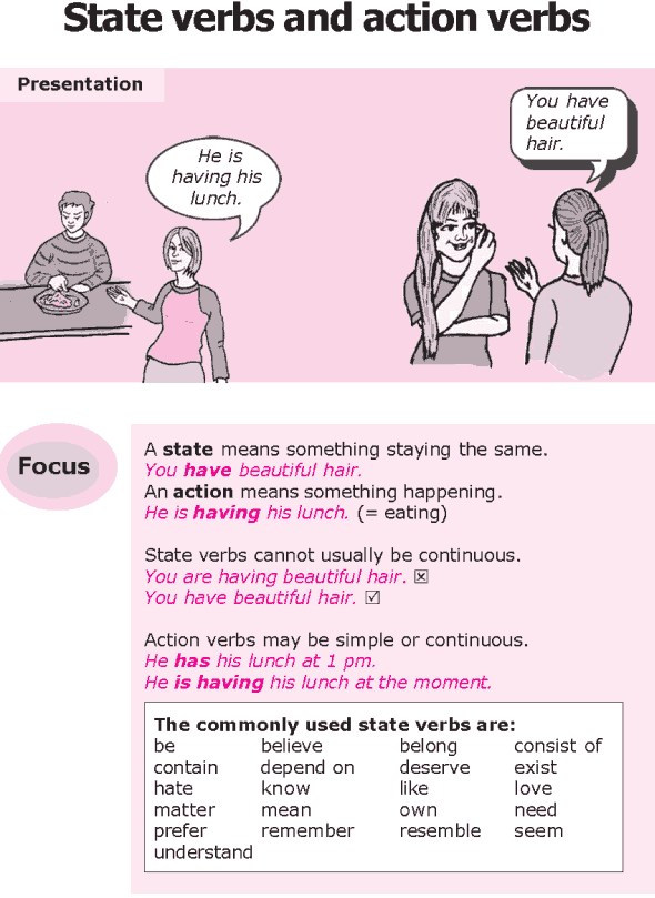 Grade 8 Grammar Lesson 3 State verbs and action verbs (0)