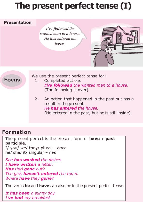 Grade 8 Grammar Lesson 4 The present perfect tense (0)