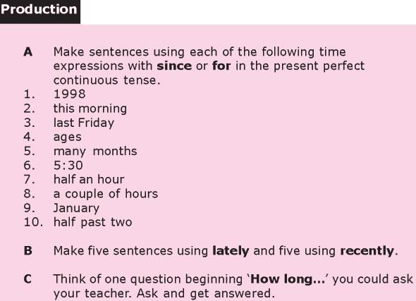 Grade 8 Grammar Lesson 7 The present perfect continuous tense (3)