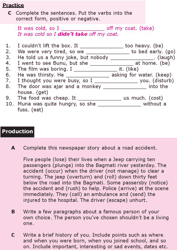 Grade 8 Grammar Lesson 8 The simple past tense (2)