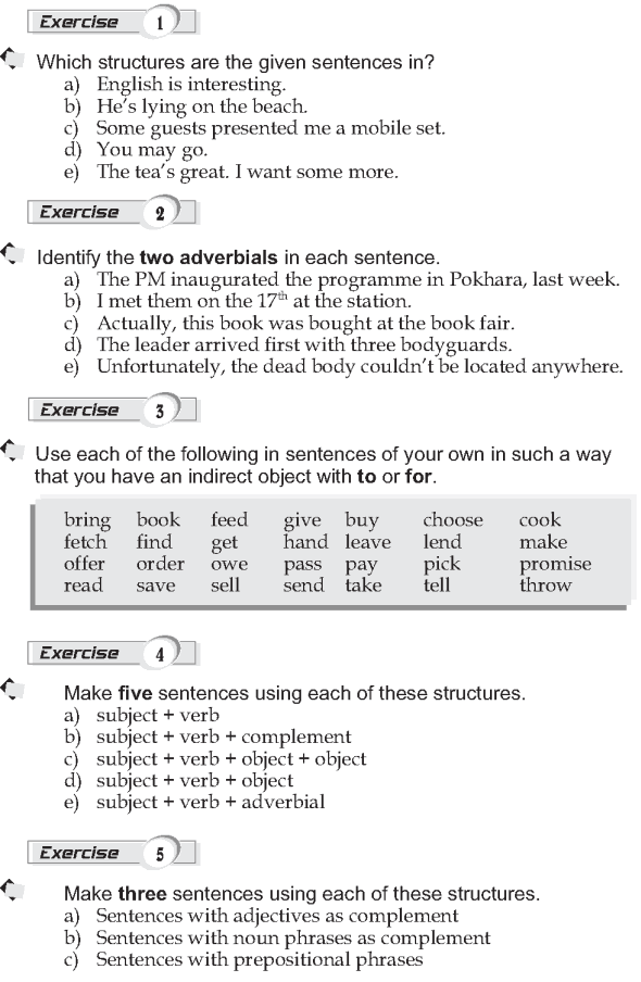 Grade 9 Grammar Lesson 1 Sentence structure (2)