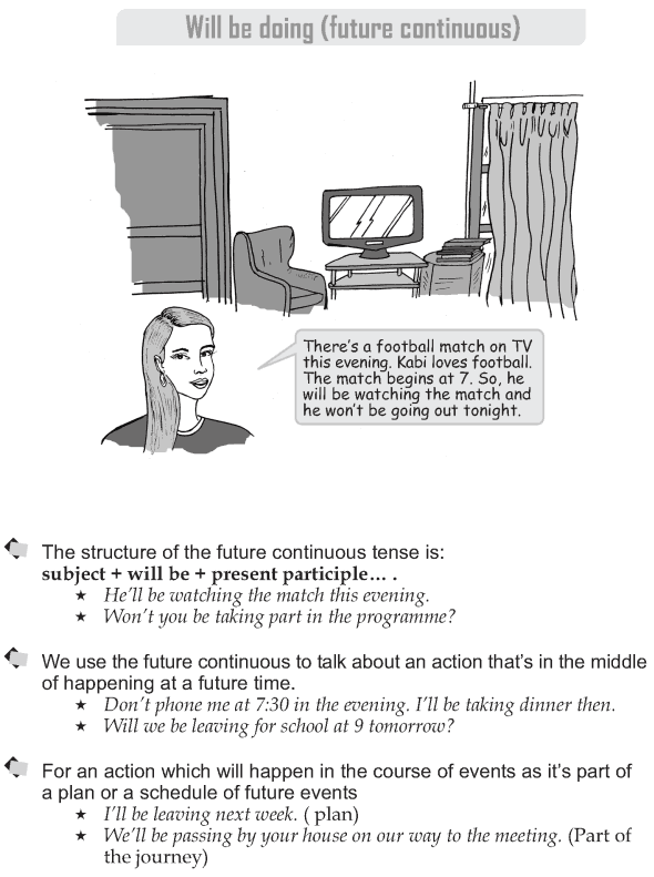 Grade 9 Grammar Lesson 14 Will be doing (future continuous) (1)