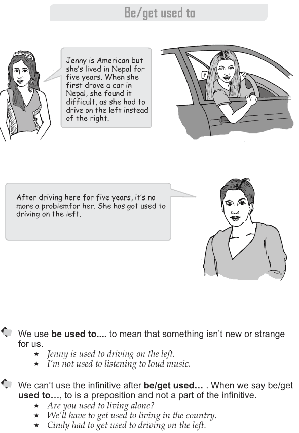 Grade 9 Grammar Lesson 19 Be get used to (1)