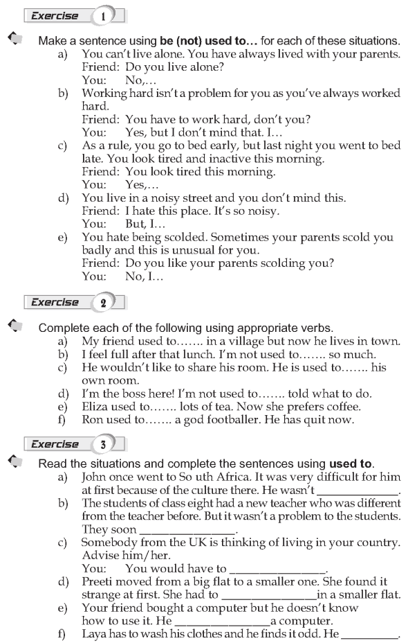 Grade 9 Grammar Lesson 19 Be get used to (2)