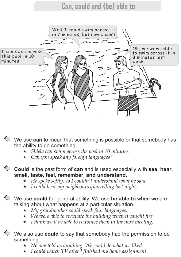 Grade 9 Grammar Lesson 20 Can, could and (be) able to (1)