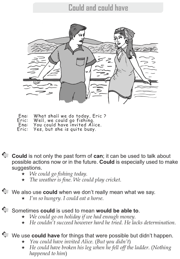 Grade 9 Grammar Lesson 21 Could and could have