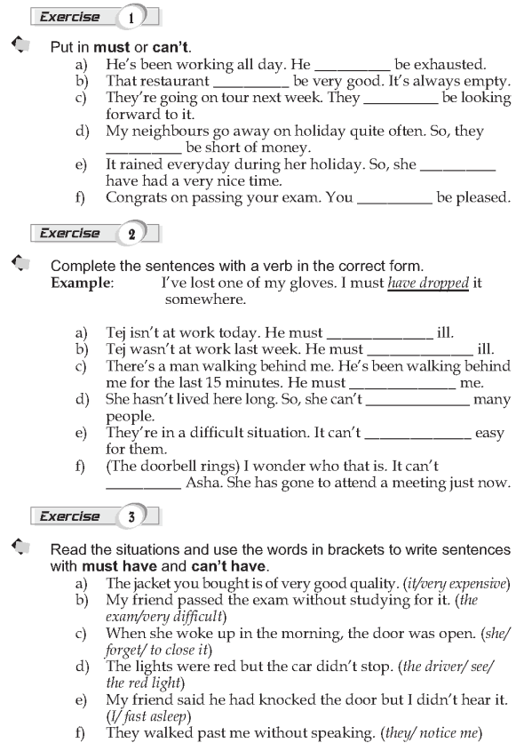 Grade 9 Grammar Lesson 22 Must and can't (2)