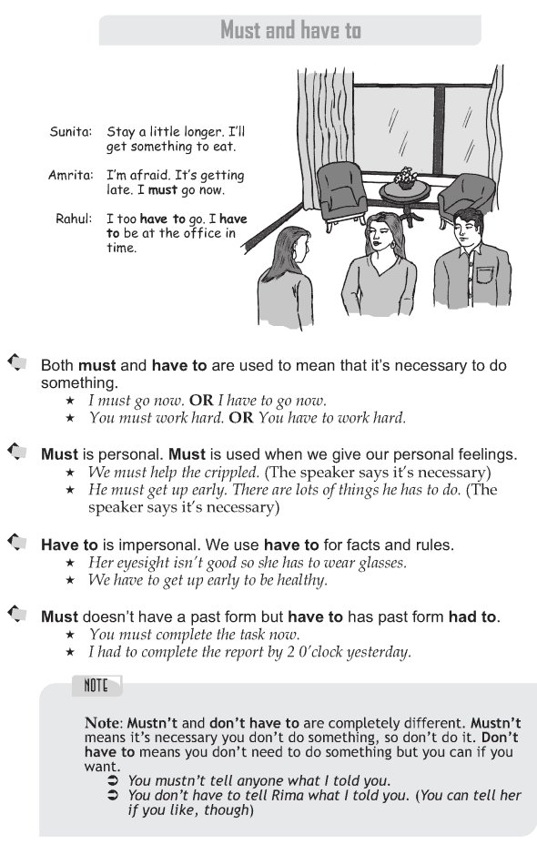 Grade 9 Grammar Lesson 24 Must and have to (1)