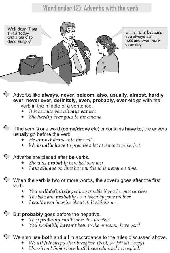 Grade 9 Grammar Lesson 3 Word order (2) Adverbs with the verb