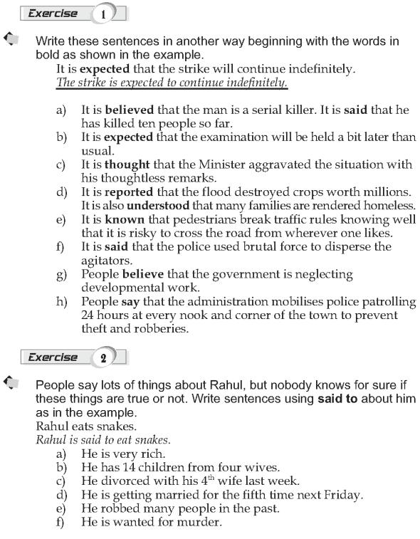 Grade 9 Grammar Lesson 33 More passive structures (2)