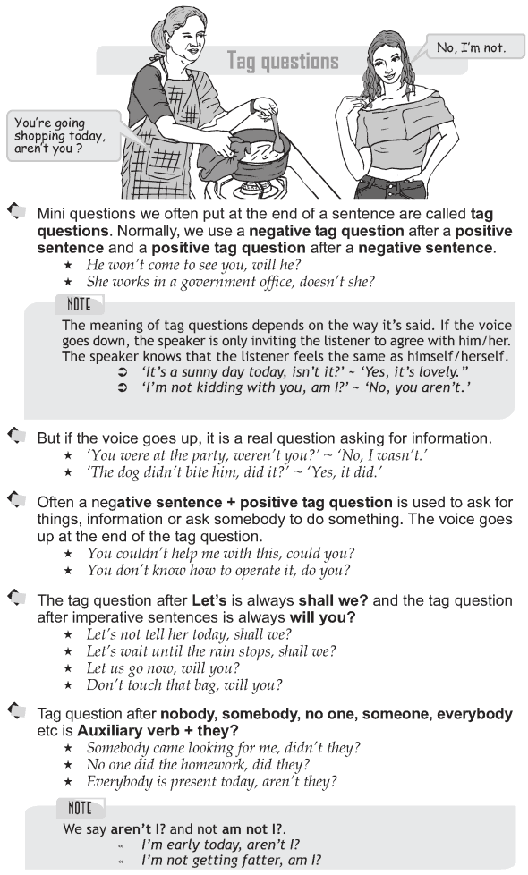 Grade 9 Grammar Lesson 35 Tag questions (1)