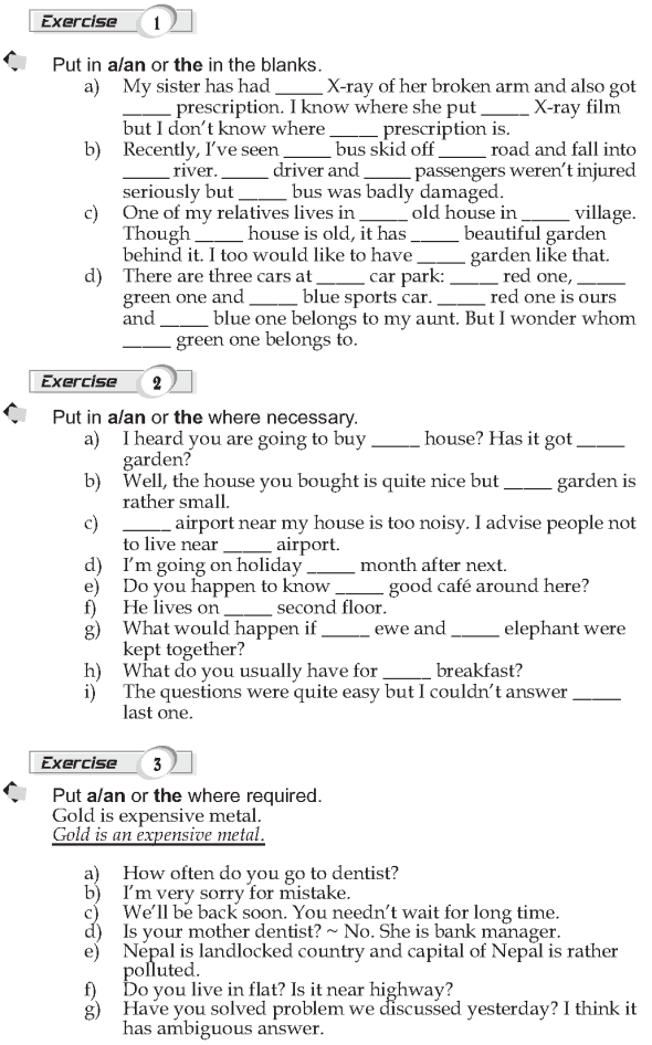 Grade 9 Grammar Lesson 36 Articles (2)