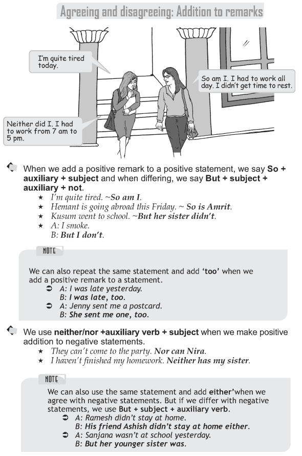 Grade 9 Grammar Lesson 37 Addition to remarks
