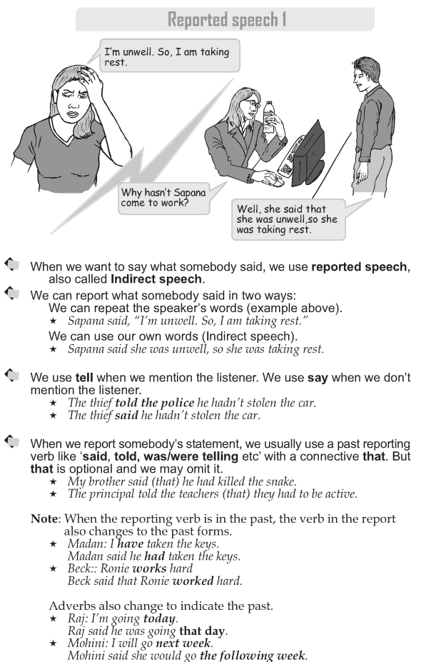 Grade 9 Grammar Lesson 39 Reported speech 1