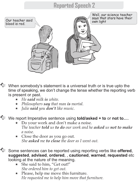 Grade 9 Grammar Lesson 40 Reported Speech 2