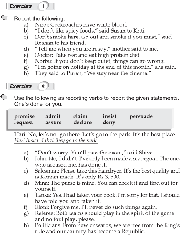 Grade 9 Grammar Lesson 40 Reported Speech 2 (2)