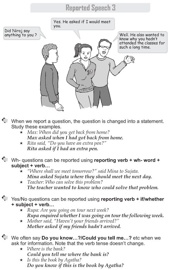 Grade 9 Grammar Lesson 41 Reported Speech 3