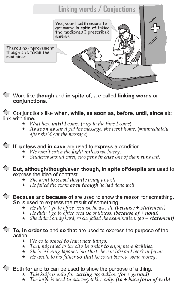 Grade 9 Grammar Lesson 42 Linking words Conjunctions (1)