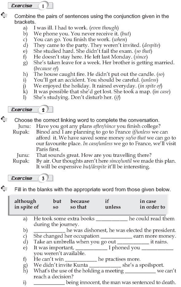 Grade 9 Grammar Lesson 42 Linking words Conjunctions (2)
