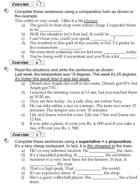 Grade 9 Grammar Lesson 43 Comparatives and superlatives (2)