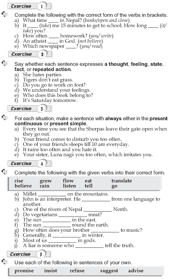 Grade 9 Grammar Lesson 5 Present simple (2)