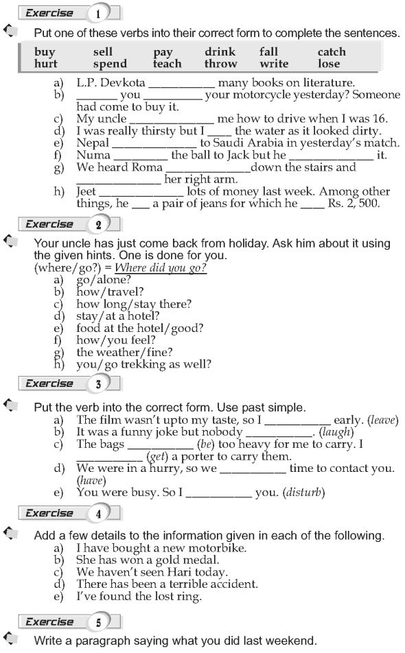 Grade 9 Grammar Lesson 6 Past simple (2)