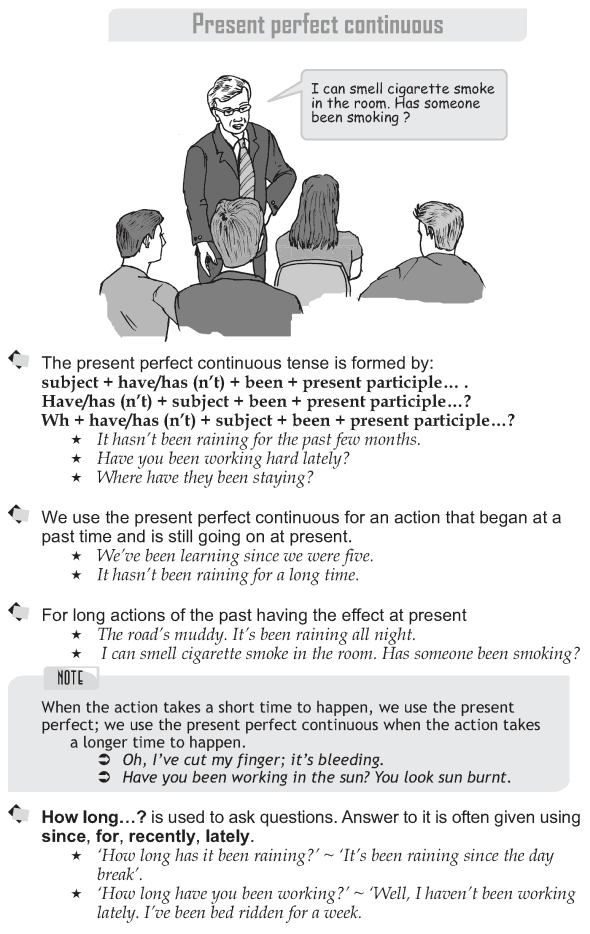 Grade 9 Grammar Lesson 9 Present perfect continuous (1)