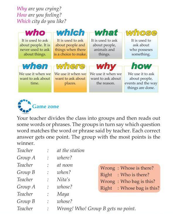 Grammar » 3rd Grade Grammar Question Words